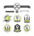 set sports clubs badges vector image