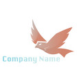 simple logo design a eagle flying on white vector image vector image