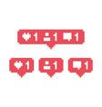 social media like comment friend bubble vector image