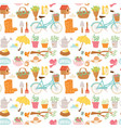 spring natural floral blossom gardening tools vector image
