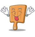 tongue out kitchen board character cartoon vector image vector image