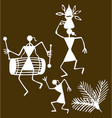 traditional warli painting from northern vector image vector image