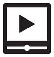 video player interface icon vector image