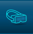 virtual reality glasses headset icon virtual mask vector image vector image