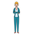 woman standing character vector image vector image