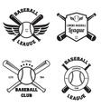 Set of baseball sport badge logo design template vector image