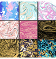 abstract backgrounds ink marbling textures hand vector image