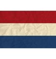 Netherlands paper flag vector image