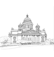 Sketch of the Cathedral in St Petersburg vector image
