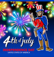 a men celebrating independence day poster vector image