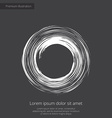 abstract circle premium icon white on dark backgro vector image vector image