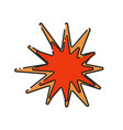 abstract explosion icon vector image