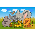 african safari wild animals cartoon vector image vector image