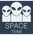 alien team on blue background vector image vector image