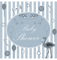 baby shower card design with message vector image vector image