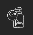 batch number chalk white icon on black background vector image vector image