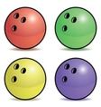 Bowling ball set vector image vector image