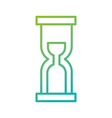 business time management hourglass and finance vector image vector image
