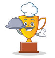 chef trophy character cartoon style vector image