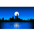 Chicago at night vector image vector image
