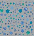 chunky snowflake seamless vector image vector image
