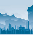 city with pollution problem blue background vector image vector image