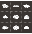 clouds icons set vector image vector image