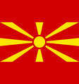 colored flag of macedonia vector image vector image