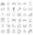 common life icons set outline style vector image vector image