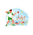 competition in water vector image vector image