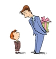 Dad and son birthday gift vector image vector image