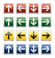 Danger arrow sign set vector image vector image
