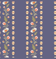 day dead pattern with flowers birds and skulls vector image