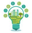 eco friendly light bulbs design vector image vector image