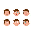 Emotions man set expressions avatar people vector image