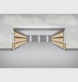 empty warehouse building vector image vector image