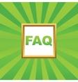 FAQ picture icon vector image vector image