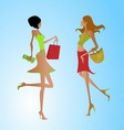 Fashion Shopping Girls clipart vector image vector image