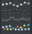 festive garlands set decorations multicolor lights vector image vector image