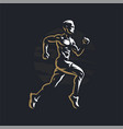 fitness man runner vector image vector image