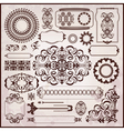 floral textures in rococo style vector image vector image