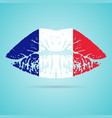 france flag lipstick on the lips isolated on a vector image vector image