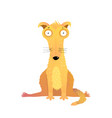 funny yellow puppy cute dog flat vector image