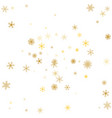 gold snowflake winter background golden vector image