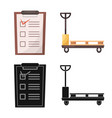 goods and cargo symbol vector image vector image