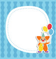greeting card with cartoon clown greeting card vector image