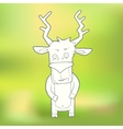 Hand-drawn cute deer on vector image vector image