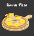 hawaii pizza vector image