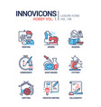 hoband activities - line design style icons set vector image