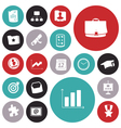 icons for business and banking vector image vector image